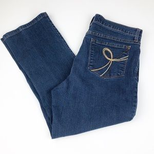 NYDJ Women's Size 14 Blue Denim Cropped Jeans